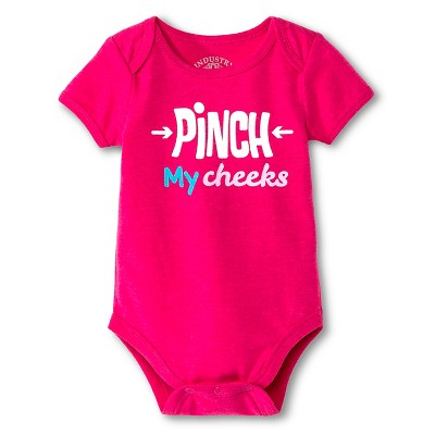 Industry 9 Newborn Pinch My Cheeks Bodysuit - 3-6M Pink