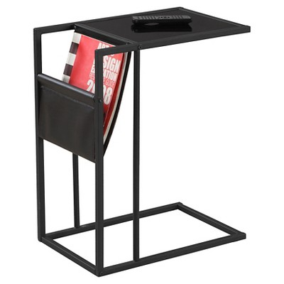 End Table  with Magazine Rack - Black - Monarch Specialties