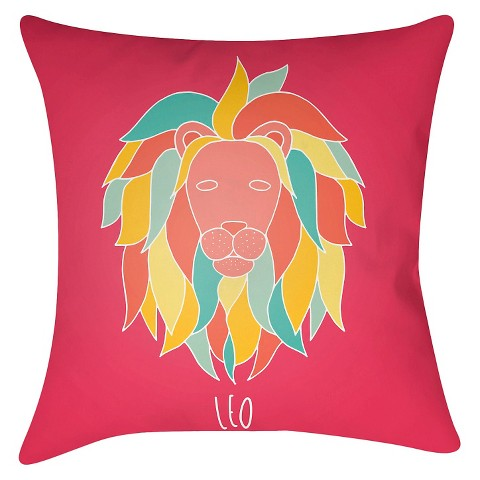 Zodiac Spirit - Leo Throw Pillow - Surya : Target