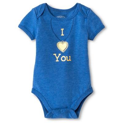 Industry 9 Newborn I Heart You Bodysuit - 0-3M Blue