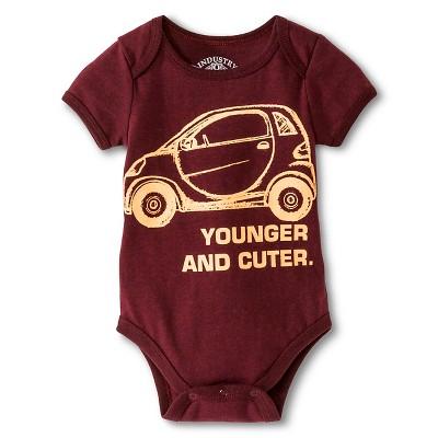 Industry 9 Newborn Younger & Cuter Bodysuit - 0-3M Burgundy