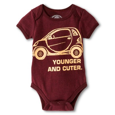 Industry 9 Newborn Younger & Cuter Bodysuit - 3-6M Burgundy