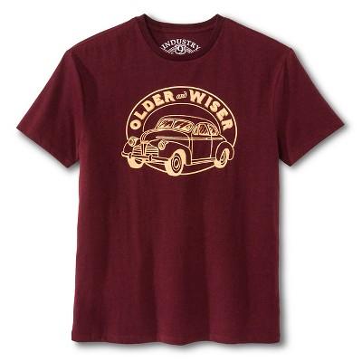 Industry 9 Men's Older & Wiser T-Shirt - L Burgundy