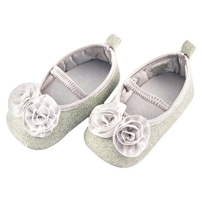 Baby Girls' Rising Star Rosette Mary Jane Shoes Silver 3-6M