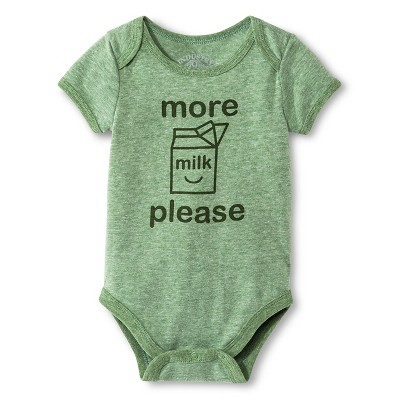 Industry 9 Newborn More Milk Please Bodysuit - 3-6M Green