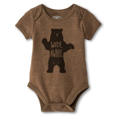 Industry 9 Newborn Wide Awake Bodysuit - 12M Brown