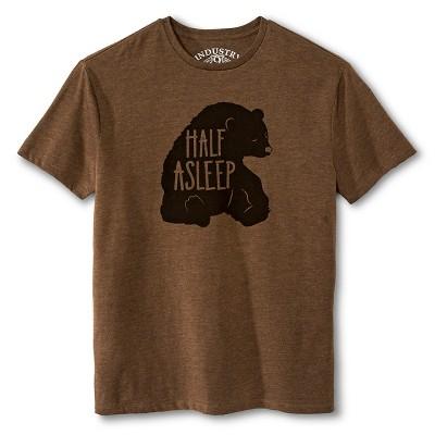 Industry 9 Adult Half Asleep T-Shirt - XXL Brown
