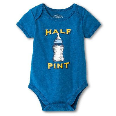 Industry 9 Newborn Half Pint Bodysuit - 12M Blue