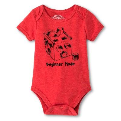 Industry 9 Newborn Beginner Mode Bodysuit - 3-6M Red