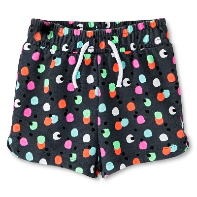 Baby Girls' Multi-Dot Print Knit Short Gray 18M - Circo™