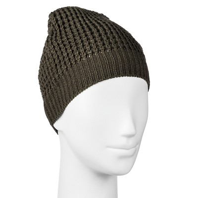 Women's Waffle Knit Beanie-Mossimo Supply Co