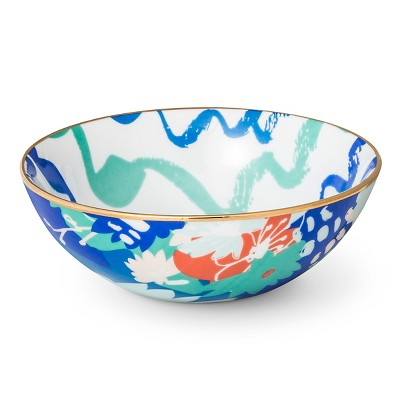 Bowls Oh Joy! Blue Multi-colored Green Swirl