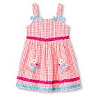 Katie M. Toddler Girl Chickadee Seersucker Sundress Coral - 2T