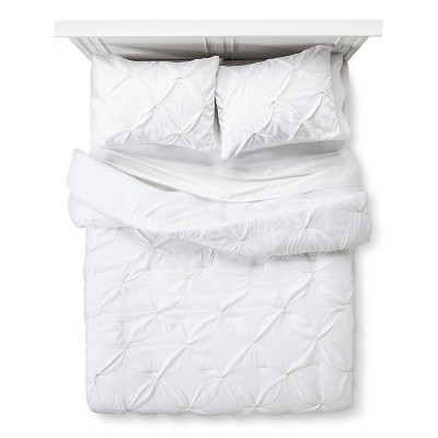 Metallic Stitch Comforter Set Full/Queen White - Xhilaration™