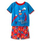 Superman Boys' 2-Piece Pajama Set - Multi-Colored XS