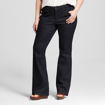Women's Plus Size Flare Denim - Who What Wear™