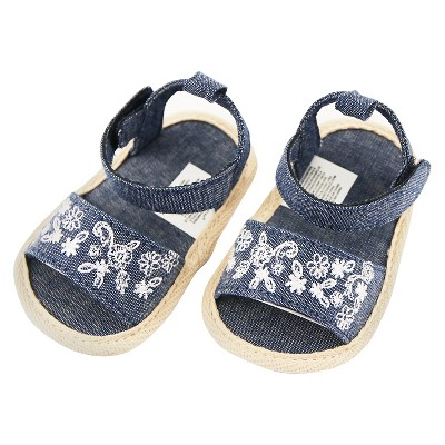 Baby Girls' Rising Star Chambray Sandals Blue 3-6M