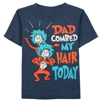 Toddler Boys' Dr. Seuss Tee Shirt - Navy Heather 2T