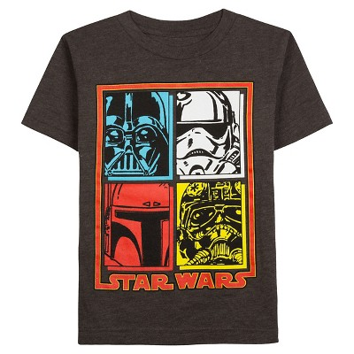Star Wars Baby Boys' Imperial Square Graphic T-Shirt 12M - Charcoal Heather