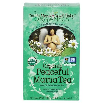 Earth Mama Angel Baby Organic Peaceful Mama Tea - 16 Count