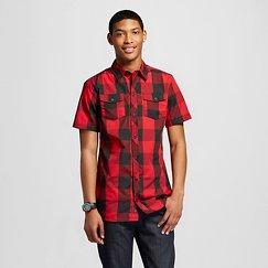 Burnside Men's Short Sleeve Buffalo Plaid Shirt