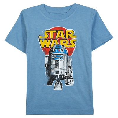 Star Wars Baby Boys' R2D2 Graphic T-Shirt 12M - Light Blue Heather