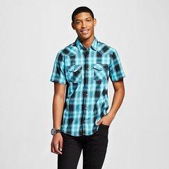 Burnside Men's Short Sleeve Plaid Shirt