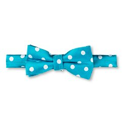 City of London Boys' Polka Dot Bow Tie - Blue