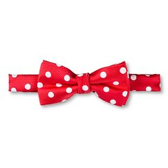 City of London Boys' Polka Dot Bow Tie - Exotic Coral
