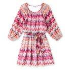 Girls' Lots of Love Chevron Shirt Dress