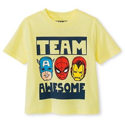 Baby Boys' Avengers T-Shirt - Yellow Heather 12 M