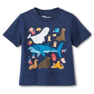 Disney Pixar® Baby Boys' Finding Dory™ T-Shirt - Navy Heather 12 M