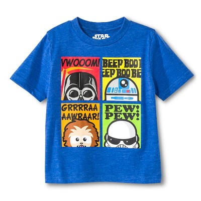 Star Wars™ Baby Boys' Star Wars T-Shirt - Royal Blue Heather 12 M