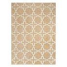 Anji Mountain Rayon made from Bamboo Viscose Tile Area Rug - Buff Beige (5' x 7')