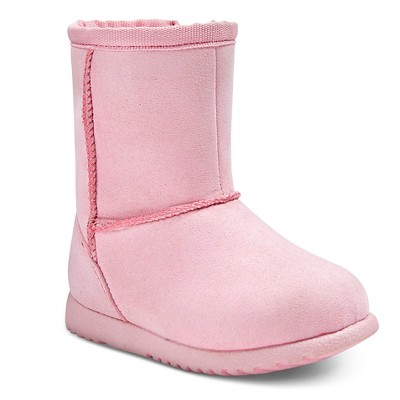Infant Girls' Aubrey Fleece Boots Pink 2 - Genuine Kids