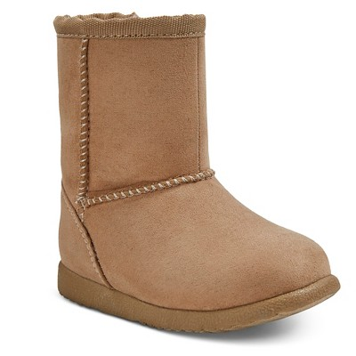 Infant Girls' Aubrey Fleece Boots Tan 2 - Genuine Kids