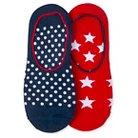 Women's 2-Pack Liner Socks Red/White/Blue One Size - Xhilaration™