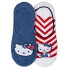 Women's Hello Kitty 2-Pack Liner Socks - Red/White/Blue One Size