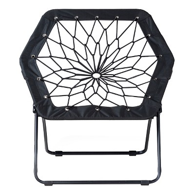 Hexagon Bungee Chair Black   Room Essentials™