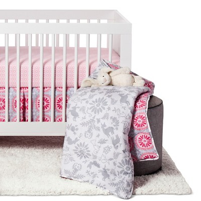 Sabrina Soto™ Lola Crib Bedding Set (3pc) - Gray
