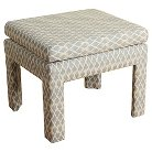 Upholstered Footstool with Top Cushion - HomePop
