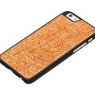 iPhone 6/6S Case - Carved Aztec Calendar Engraved Cherry - Black (i6-BC1K-E-AZTC)
