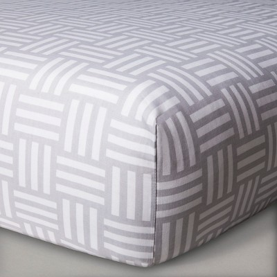 Sabrina Soto™ Leo Fitted Crib Sheet - Gray