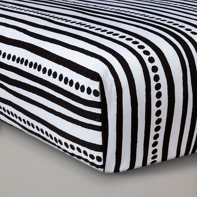 Sabrina Soto™ Safari Crib Sheet - Black/White
