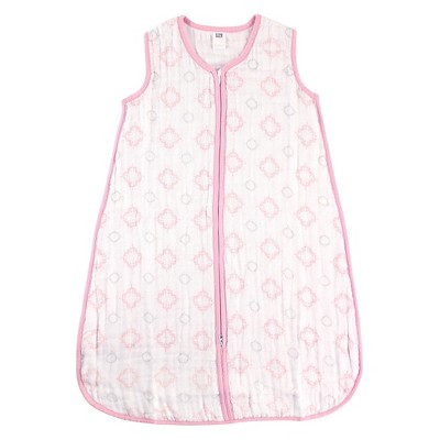 Hudson Baby Muslin Sleeping Bag - Pink Damask