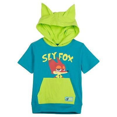 Disney® Zootopia™ Baby Boys' Sly Fox Hooded Tee - Turquoise 12 M