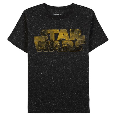 Star Wars™ Baby Boys' Short Sleeve T-Shirt  - Black Speckle 12 M