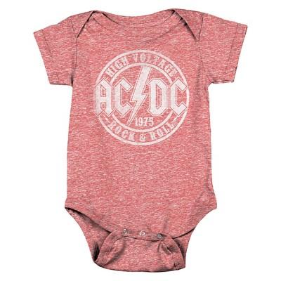 Baby AC/DC Bodysuit Red 3-6 M