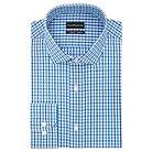 Men's Big & Tall Slim Fit Wrinkle Free Check Dress Shirt Blue/Purple - City of London 16.5 / 36-37