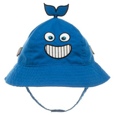 Baby Boys' Whale Face Bucket Hat Blue 12-24M